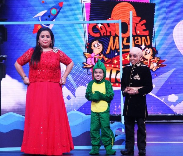 Chhote Miyan Dhaakad_Bharti Singh with Preetjyot and Keyan